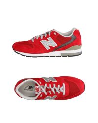 New Balance - Red Low-tops & Sneakers for Men - Lyst