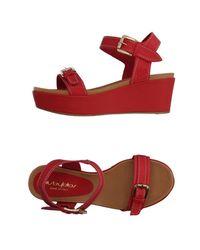 Blu Byblos - Red Sandals - Lyst