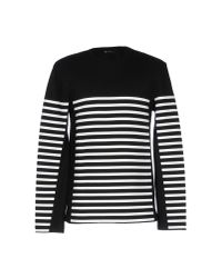 T By Alexander Wang - Black Striped Hoodie for Men - Lyst