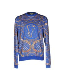 Versace Jeans | Blue Sweatshirt for Men | Lyst