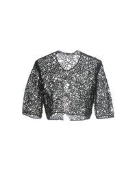 Lela Rose | Black Cotton-blend Corded Lace Jacket | Lyst