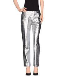 Theyskens' Theory - Metallic Casual Pants - Lyst