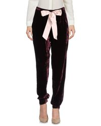 Pinko - Black Casual Pants - Lyst
