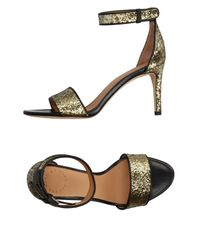 Marc By Marc Jacobs - Metallic Sandals - Lyst