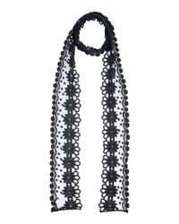Twin Set - Black Oblong Scarf - Lyst