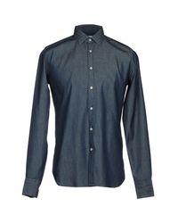 Bevilacqua - Blue Denim Shirt for Men - Lyst