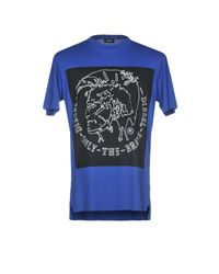DIESEL - Blue T-shirt for Men - Lyst