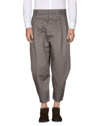 Tom Rebl Gray Casual Trouser for men