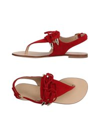 Vicini Tapeet - Red Toe Post Sandal - Lyst