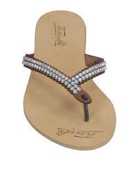 Tosca Blu Blue Toe Strap Sandal