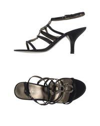 Nine West | Black Sandals | Lyst