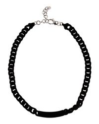 MM6 by Maison Martin Margiela - Black Necklace - Lyst