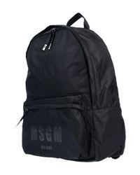 MSGM - Black Rucksäcke & Bauchtaschen for Men - Lyst