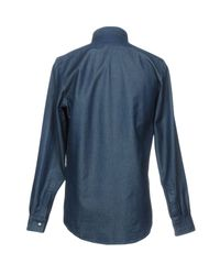 Richard James - Blue Denim Shirts for Men - Lyst