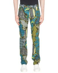 Versace Jeans - Green Casual Trouser for Men - Lyst