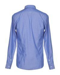 Aglini - Blue Shirt for Men - Lyst