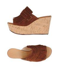 Casadei - Brown Sandals - Lyst