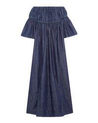 Goen.J - Blue 3/4 Length Dress - Lyst