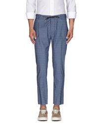 Paolo Pecora - Blue Casual Trouser for Men - Lyst