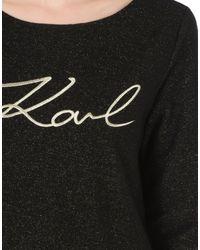 Karl Lagerfeld - Black Sweatshirt - Lyst