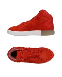 Lyst adidas Originals High tops & Sneakers in Red