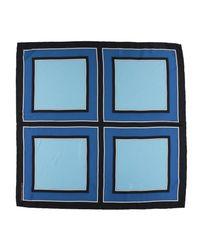 Diane von Furstenberg - Blue Square Scarf - Lyst