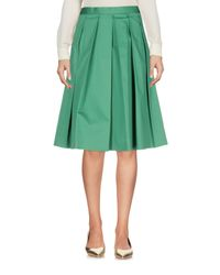 Annie P - Green Knee Length Skirts - Lyst