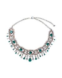 Shourouk - Isis Green Necklace - Lyst