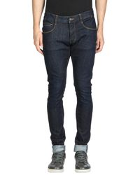 Armani Jeans - Blue Denim Pants for Men - Lyst