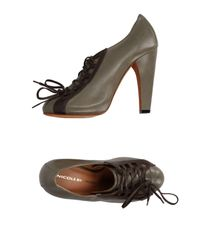 Nicole Brundage - Gray Lace-up Shoe - Lyst