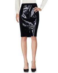 Raoul - Black Knee Length Skirt - Lyst