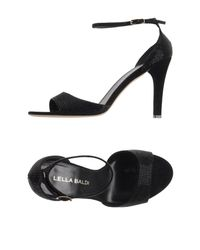 Lella Baldi | Black Sandals | Lyst