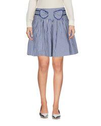 RED Valentino - Blue Mini Skirt - Lyst
