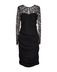 Boutique Moschino - Black Knee-length Dress - Lyst
