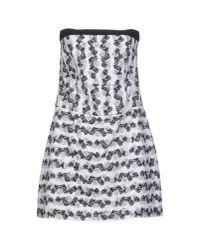 Pinko   Black Short Dress   Lyst