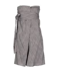 Vanessa Bruno - Gray Short Dress - Lyst