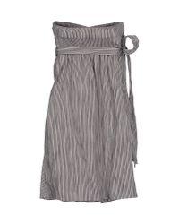 Vanessa Bruno - Gray Short Dress - Lyst
