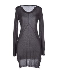 GAUDI | Gray Short Dress | Lyst