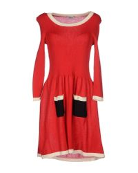Boutique Moschino - Red Short Dress - Lyst