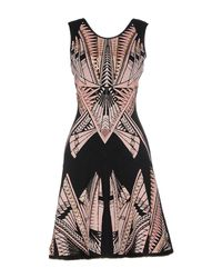 Hervé Léger - Black Embellished Ponte Dress - Lyst