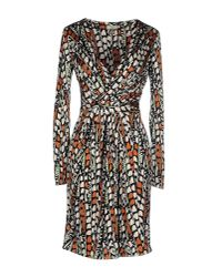 Issa | Multicolor Printed Silk Jersey Dress | Lyst