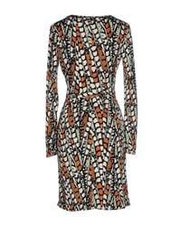 Issa - Multicolor Printed Silk Jersey Dress - Lyst