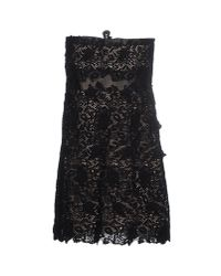 Valentino - Black Short Dress - Lyst
