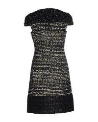 Giambattista Valli | Black Knitprint Dress | Lyst