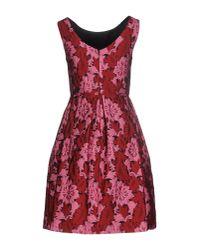 P.A.R.O.S.H. - Pink Short Dress - Lyst