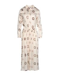 Aglini - White 3/4 Length Dress - Lyst