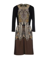 Etro - Black Paisley Dress - Lyst
