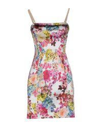 Dolce & Gabbana - White Short Dress - Lyst
