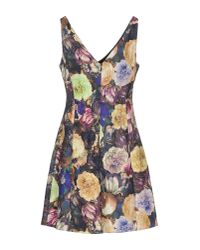 Darling - Purple Short Dress - Lyst