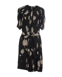 See By Chloé - Black Belted Dress - Lyst